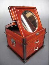 Schmuckschatulle +Spiegel Mahag. H.17x20x20cm Kassette Vintage Ästhetik