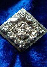 Brooch Raj Era Antique Silver Buddha