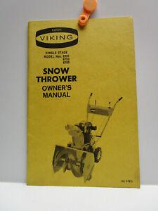 Vintage -  EATON VIKING - SINGLE STAGE SNOW THROWER - OWNER'S MANUAL - 1971