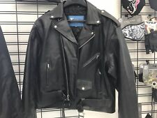 Mens leather biker jacket XL