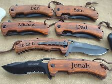 Personalized Knives, Groomsmen Gift, Best Man  Knife, Engraved. Groomsman  936