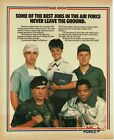 1987 US AIR FORCE Recruiting Recruitment Vintage Print Ad