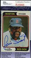 Luis Tiant 1974 Topps Jsa Coa Hand Signed Authentic Autographed Red Sox