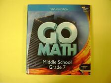 Teacher Edition Go Math Middle School Grade 7 @2014