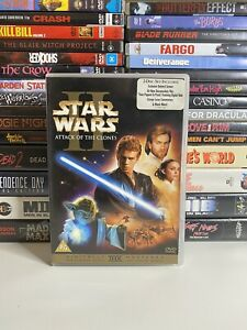 STAR WARS: EPISODE II ATTACK OF THE CLONES (2002) DVD 2 DISC EDITION SCI-FI CULT