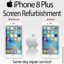 "Genuine iPhone 8+ Plus 5.5""  Glass Screen Digitiser Repair REFURBISHMENT Service"