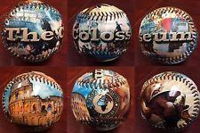 7 ball Set of the Seven Wonders of the World  Collectible  Souvenir Baseball