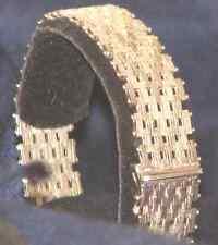 """925 sterling silver wide woven link bracelet 7"""" 31.4 GR 16MM"""