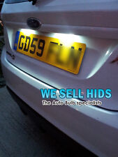 FORD FIESTA MK7 MK 6  LED White NUMBER PLATE BULBS LIGHTS - T10 501 Error Free