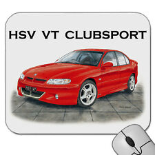 HOLDEN   HSV  VT  CLUBSPORT COMMODORE     MOUSE PAD  ( 5 CAR COLOURS)