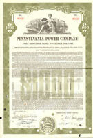 Pennsylvania Power Company > $1,000 bond certificate