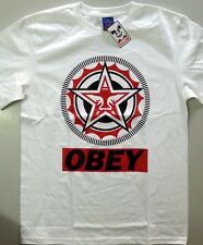 NEW OBEY GIANT SHIRT White Medium camiseta PROPAGANDA street wear skate CLASSIC