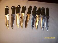 10 Hunting Knives Used Lightweight with Free sheath Bug out Camping Hunting