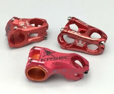 KRSEC 31.8* 0° 45/50mm -17° 60mm Stem MTB DH XC Road Bike stems Aluminium Red