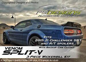 Venom Split V 2015+ Dodge Challenger Backup Cam Wicker Bill Wickerbill Spoiler