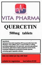 HIGH STRENGTH QUERCETIN 500mg 365 tabs immune health anti bacterial