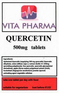 HIGH STRENGTH QUERCETIN 500mg 60 tabs immune health anti bacterial