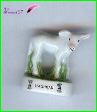 """Feve Animaux de la Ferme Edition Atlas """" L' Agneau """" Lamb Lamm #B14"""