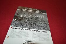 Gehl 207 Fingerwheel Hay Rake Dealers Brochure DCPA