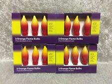 LOT of 4 Boxes Orange Ceramic Flame Candelabra Bulbs