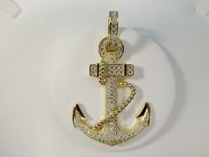 REAL 925 STERLING SILVER LARGE ANCHOR PENDENT