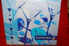 "Set of 4 / Cris D'Arques Luminarc ""OCEANE"" 5 oz. COCKTAIL / MARTINI GLASS #S6617"