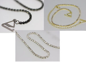 Crystal Diamond Adjustable DETACHABLE BRA STRAPS (PAIR) Gold, Silver or Black