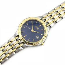 Citizen Eco-Drive A114-H14991 TA 830217 Blue Two Tone Steel Vintage Men's Watch