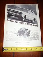 1966 DODGE CHARGER HEMI - ORIGINAL VINTAGE AD
