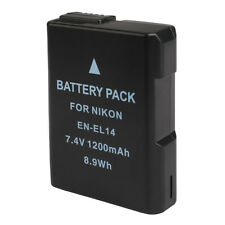 Akku Nikon EN-EL14 für D3100 D3200 D3300 D5100 D5200 D7000 Li-ion 7.4V 1200mAh