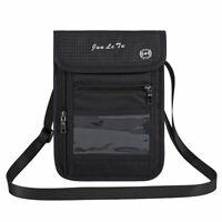 RFID Blocking Travel Passport Wallet Holder Neck Pouch Safe Phone Bag
