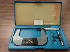 3 4 Precision Outside Micrometer 00001 Carbide Tipped Standard 408 34 New