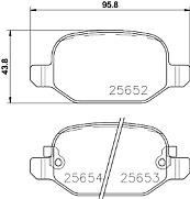 FIAT 500L 199_ 0.9 1.4 1.3 1.6 REAR AXLE MDB3331 MINTEX BRAKE PADS SET