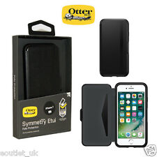 Genuine Otterbox Symmetry Folio Flip Case Wallet for Apple iPhone 8/7 Black NEW