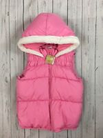 NWT Girl's Crazy 8 Pink Hooded Puffer Vest Jacket-Size L (10-12)