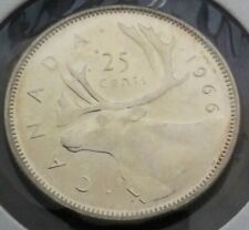 CANADA SILVER 25 CENTS COIN Queen Elizabeth II 1966