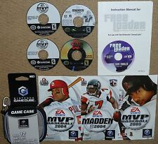 FREE LOADER Import Game Player UK NINTENDO GAMECUBE 4 Games Madden Baseball MVP