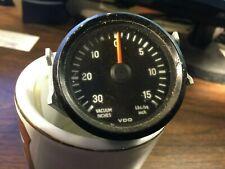 Vdo Gauge Turbo Vacuum 30 Inches Boost 15 Pounds Black Trim Ring Orange Needle