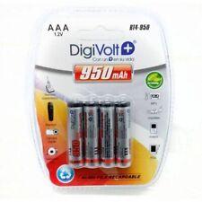 4 Pilas AAA 950 mAh Baterías Recargables 1.2v Bateria NiMh envío de España