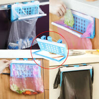 EE_ EG_ Foldable Plastic Garbage Bag Rack Hanging Trash Shelf Kitchen Rubbish Ho