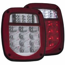 Anzo 861082 Tail Light Assembly LED Red/Clear Lens Chrome Housing Pair