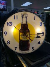 NU-GRAPE CLOCK 1940s Telechron Lighted NuGrape Advertising Clock