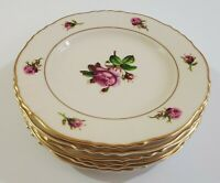 "Set of 6 Syracuse China Federal Shape Victoria Rose 6 3/8"" Bread Plates"