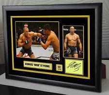 """Georges ST-Pierre UFC incorniciato tela OMAGGIO firmato LIMITED EDITION """"GRANDE REGALO"""""""