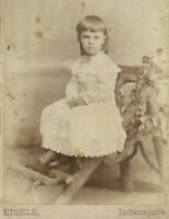 Unhappy Victorian Girl Eisele Indianapolis Indiana 1880s Antique Cabinet Photo