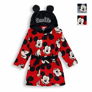 Vestaglia da notte Disney Mickey Mouse Bambino in morbido pile ufficiale 4597