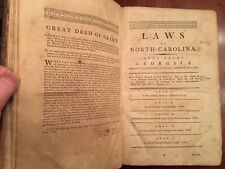 RARE 1791 North Carolina Laws, James Iredell, Edenton, NC imprint 1st ed leather