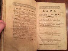 RARE 1791 North Carolina Laws, James Iredell, Edenton, NC imprint 1st ed leather