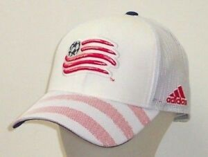 New England Revolution adidas MLS Authentic Team Structured Snapback Mesh Hat