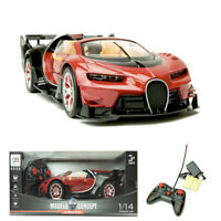 1/14 Red Remote Control Super Racer Toy Car Vehicle Model With Open Door & Light